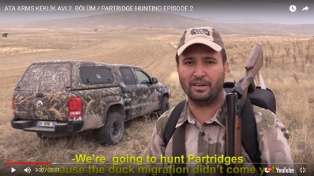 ATA ARMS KEKLİK AVI 2. BÖLÜM / PARTRIDGE HUNTING EPISODE 2